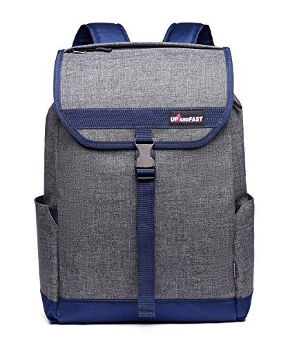 Laptop Backpack College Student Urban Backpack Bookbag for Men Women Grey