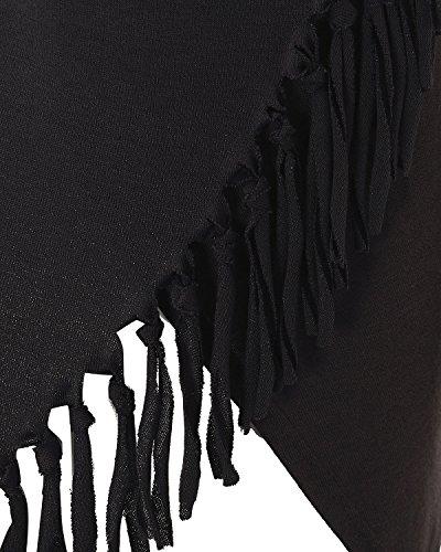 StyleDome - Camiseta de manga larga - Manga Larga - para mujer gris oscuro