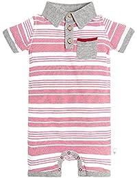 Baby Boys' Romper Jumpsuit, 100% Organic Cotton One-Piece...