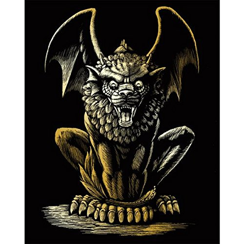 Royal Brush Gold Foil Engraving Art Kit, 8 by 10-Inch, Lion Gargoyle GOLDFL-27