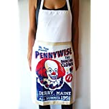 Cooking Apron - IT Pennywise The Dancing Clown Patented Fabric Retro Vintage Poster Style