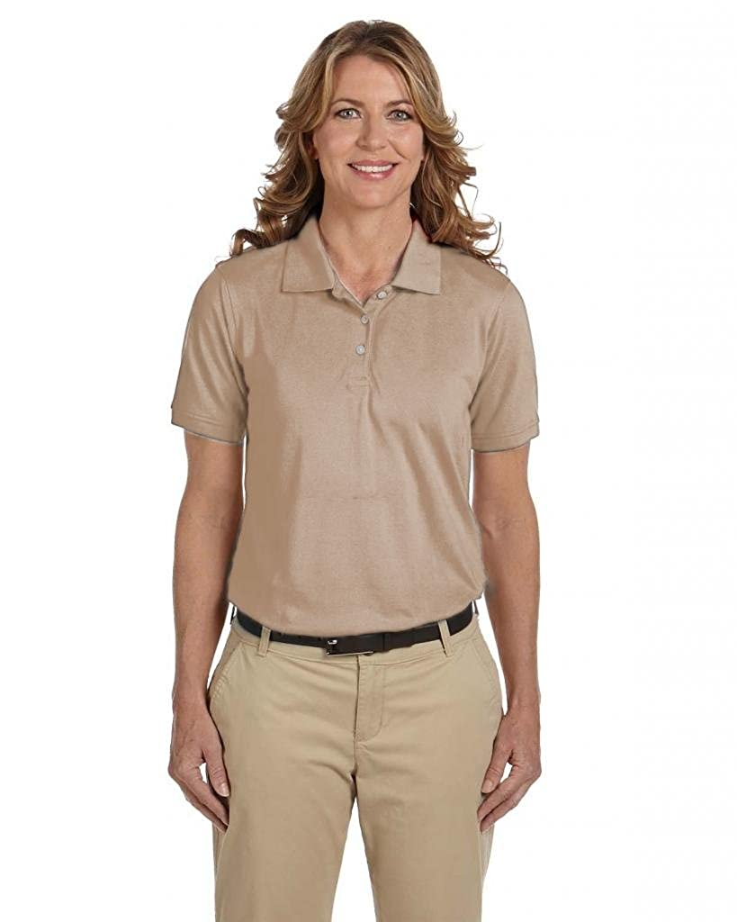 Harriton Womens Easy Blend Cotton Pique Polo Shirt