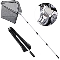 Goture Fishing Landing Net, Nylon Mesh with Rubber...