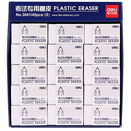 Eraser - Pencil Eraser 45 Pieces Rubber Eraser for Artist Student Stationery Sketch Drawing Cleaner Deli 3041 - by Kamin's - 1 PCs by Kamin's (Image #1)