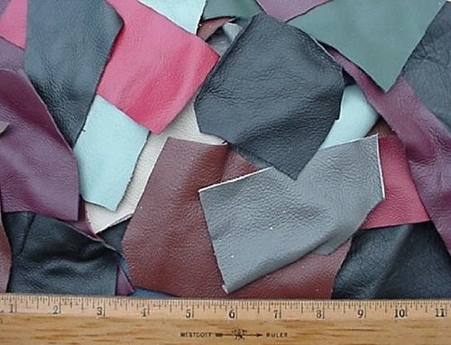 Scrap Upholstery Leather Craft Mixed Colors 2 Lbs 10 Sf Dangerous Threads 4336862202