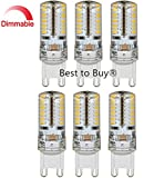 Best to Buy® (6-PACK) Dimmable G9 Base 64SMD3014 LED Light Bulb Lamp 3.5Watt 120V WARM White Replacement to 35W halogen Bulb.