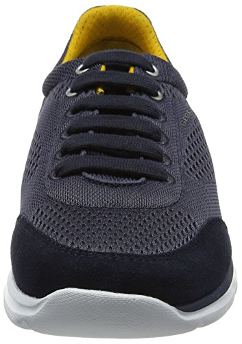 Geox Mens M Damian 4 Fashion Sneaker Blu Scuro