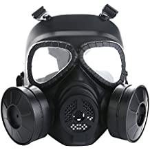 VILONG Airsoft Mask Outdoor Sports Tactical Paintball mask Full Face Skull CS Mask With double filter fan CS edition Perspiration Dust Face Guard