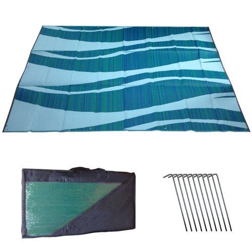 Snowbird Mat Waves 9' x 12' Blue/Green