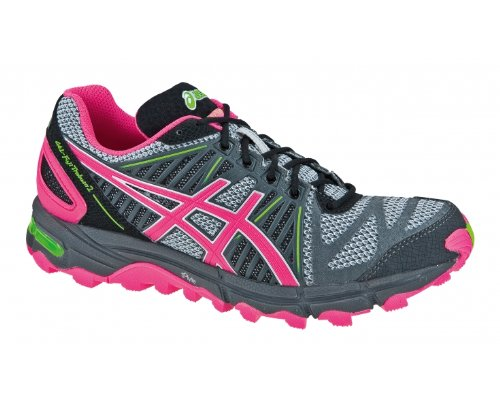 Asics Performance Gel-fujitrabuco 2 - - Mujer Gris / Fucsia / Verde