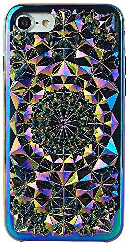 iPhone 7 / iPhone 8 Case, FELONY CASE - Kaleidoscope Case Protective Shock-Absorbing Stylish Geometric Two-Piece Screen Protective Case for iPhone 7 / iPhone 8 Case (4.7 inch) (Cosmic Holographic)