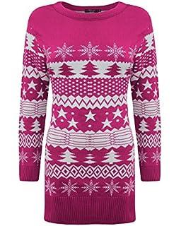 6bb885decd07 Generation Fashion New Ladies Women Knitted Long Sleeve Christmas Xmas Tree  Fairisle Novelty Jumper Top Dress