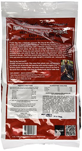Dave S Pet Food Chicken Rice And Oatmeal Food Bag, 4 Lb.