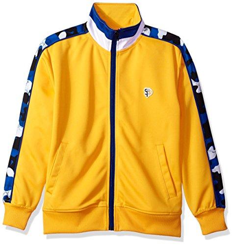 Athletic Kids Track Jacket - Southpole Big Boys' Full-Zip Athletic Track Jacket, Camo Yellow, X-Large