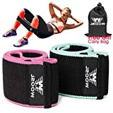 Resistance Bands for Legs and Butt,Exercise Bands Set Booty Bands Workout Bands Hip Bands Wide Sports Fitness Bands Stretch Resistance Loops Band Anti Slip Elastic (Set 2
