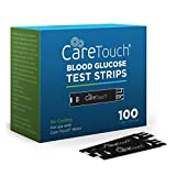 Care Touch Blood Glucose Test Strips (100 Count) for Use with Care Touch Monitor (2 Box of 50 Each)