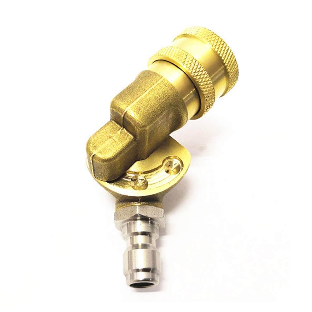 90 Grad 1//4 4000 PSI Schnellverbinder schwenkbare Kupplung f/ür Hochdruckreiniger-D/üse Reinigung schwer erreichbarer Stellen