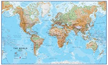 Large world wall map canvas timekeeperwatches updated gumiabroncs Images