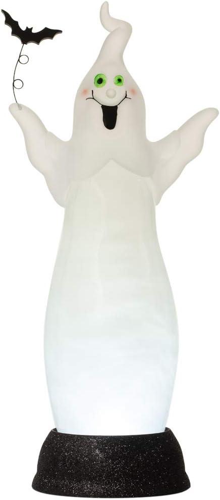 Halloween Pearl Swirling Ghost Night Light Desk Lamp Figurine, 13 3/4 Inch