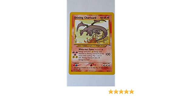 Amazoncom Pokemon Shining Charizard 107 Neo Destiny Holo