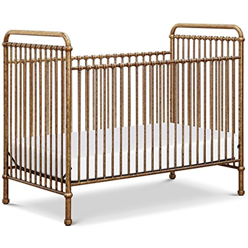 Million Dollar Baby Classic Abigail 3 in 1 Convertible Iron Crib, Vintage (1 Iron Convertible Crib)