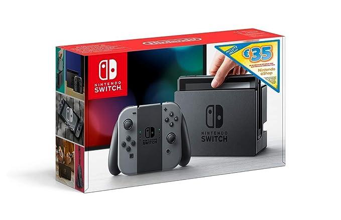 Nintendo Switch - Consola Gris + Bono 35€ eShop (Código de ...