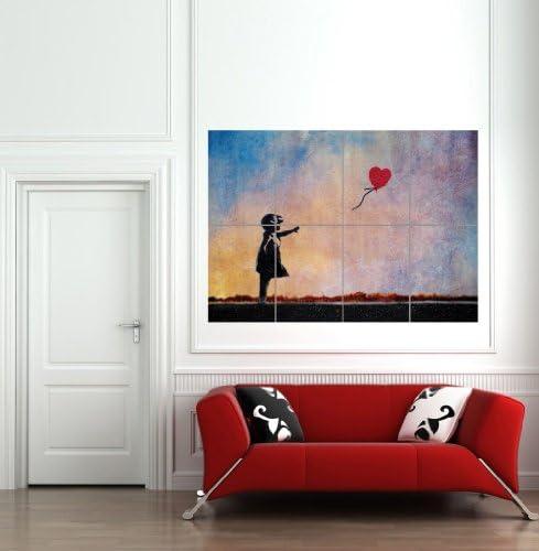 【アート】バンクシー 少女と風船 アートプリントポスター BANKSY BALLOON GIRL B481