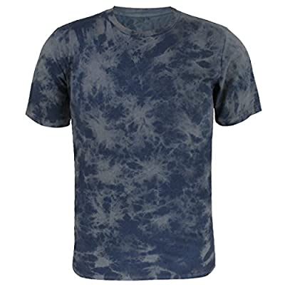 Funny World Men's Tie Dye Cotton Short Sleeve T-Shirts