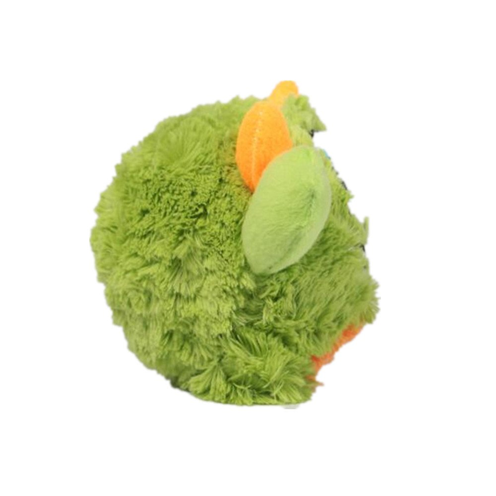 huglove Big Dog Plush Squeaky Ball Toys for Exercise Entertainment Boredom Crazy Bouncer Toy Floating Ball for Medium and Large Dogs Green