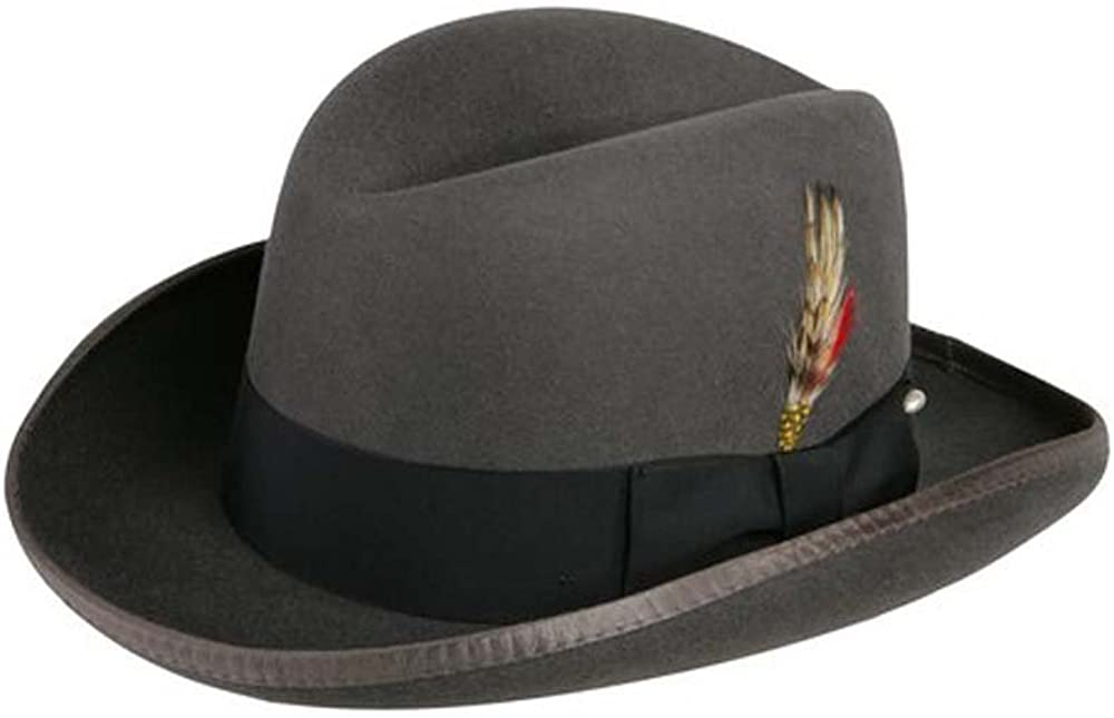 Epoch hats Classico Mens Wool Felt Homburg Hat