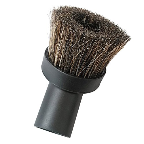 MonkeyJack Replacement Round Dusting Brush Soft Horsehair Vacuum Attachment 1-1/4