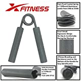 Metal Hand Gripper by xFitness   The Best Grip, Forearm & Finger Exerciser   Singer Gripper in 5 Colors, Resistance Level From 50 lbs. to 350 lbs. with Redefined Ergonomic Knurling