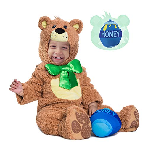 Spooktacular Creations Teddy Baby Bear Costume Deluxe Infant Set for Halloween Trick or Treating Party Dress Up (6-12 Months) Brown -
