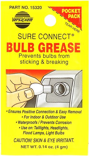 Versachem (15320-240PK) Sure Connect Bulb Grease - 4 Grams Pocket Pack, (Pack of 240)