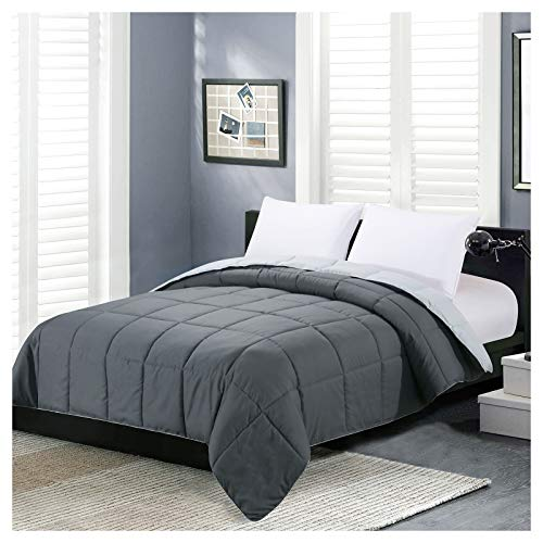 Homelike Moment Reversible Lightweight Comforter All Season Down Alternative Bed Comforter Summer Duvet Insert Quilted Comforters