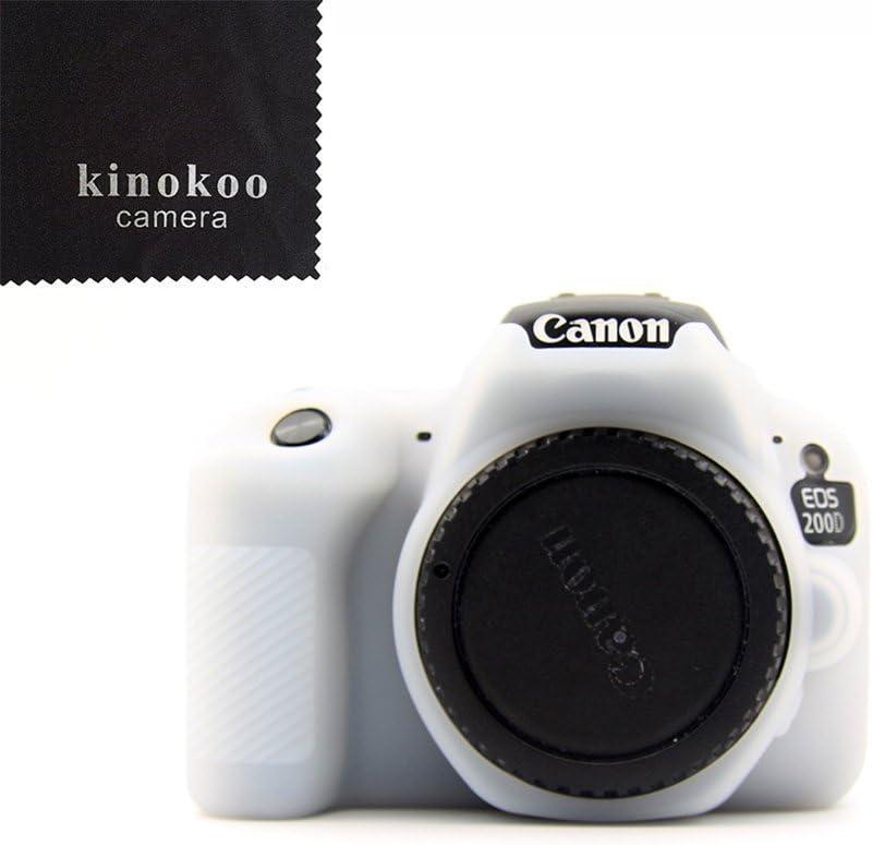 kinokoo Funda de Silicona para Funda Protectora Canon EOS 200D ...