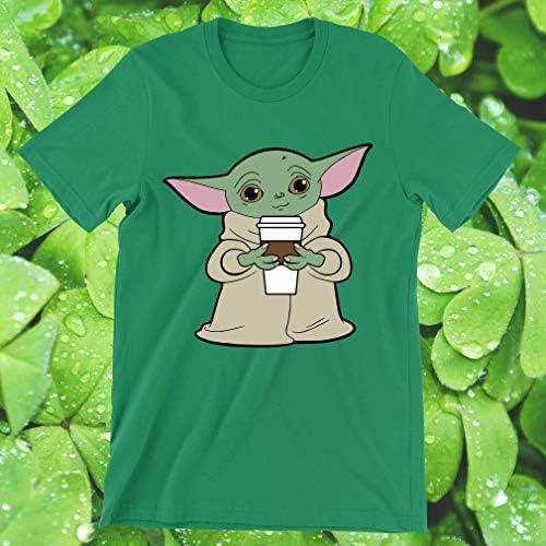 Galaxyngo Horror Chibi Characters Yoda Baby Yoda Coffee Gift For Her T Shirt