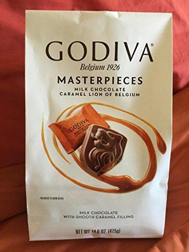 Masterpieces Milk Chocolate CARAMEL LION of Belgium 14.6 oz. (Pack of 2) (Godiva Caramel Milk Chocolate)