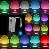 Kyпить Toilet Light Motion Activated,Zerhunt Toilet Night Light 16 Colors LED Bathroom Accessories Toilet Seat Nightlight на Amazon.com