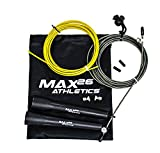 MAX26 Athletics Ultra Fast Speed Jump Rope Jumping Ropes - Endurance Training Workout