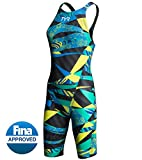 TYR avictor Female Open Back Color Blue/Green (487) Size: 25