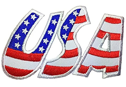 USA.American flag patch 9.5x6cm biker heavy metal Logo Jacket Vest shirt hat blanket backpack T shirt Patches Embroidered Appliques Symbol Badge Cloth Sign Costume (Prom Night 1980 Dvd)
