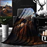 Ralahome Unique Custom Double Sides Print Flannel Blankets Volcanoes Of Bromo National Park Java Indonesia Super Soft Blanketry for Bed Couch, Throw Blanket 40 x 60 Inches