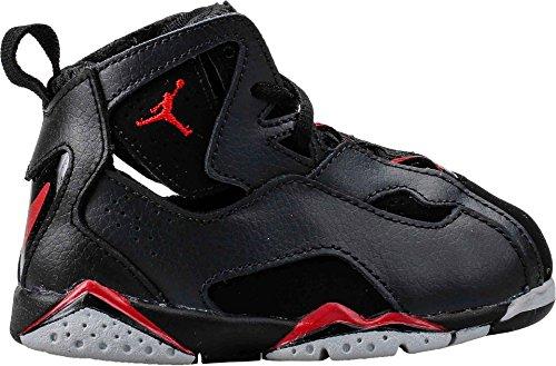 Nike Jordan Toddlers Jordan True Flight Bt Black/Gym Red/Anthrct/Wlf Gry Basketball Shoe 7 Infants US by Jordan