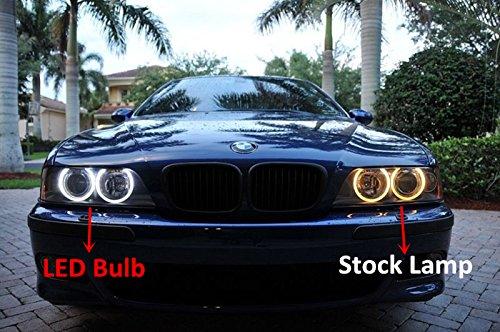 Alla Lighting 40W H8 Cree Led Angel Eye 360-Degree Halo Bulb Light Lamp 6000K Xenon-7880