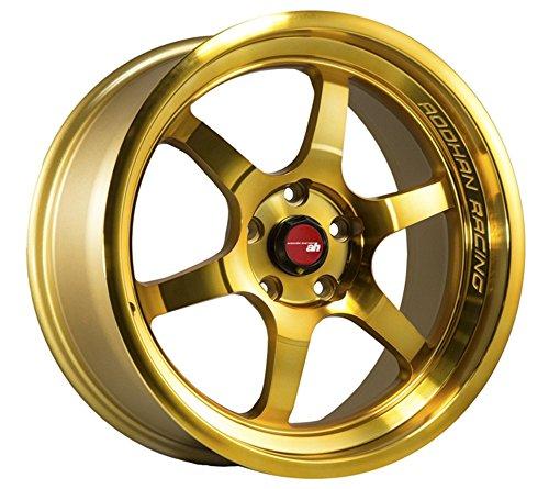 (Aodhan Wheels AH-08: 18x8.5, 5x114.3, 73.1, 35, (Gold Machined Face))