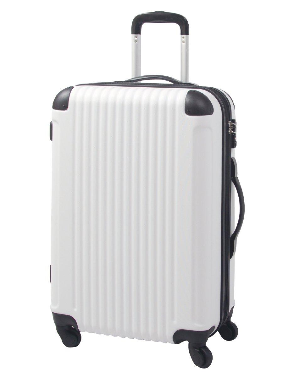 [グリフィンランド]_Griffinland TSAロック搭載 スーツケース キャリーバッグ かわいい エンボス加工 超軽量 newFK1212-1 ファスナー開閉式 S型国内国際線機内持込可 15色3サイズ B01GNXFP4I セット(L+M+S)|ホワイト/ブラック ホワイト/ブラック セット(L+M+S)