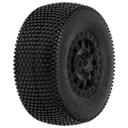 ProLine 118325 Blockade SC 2.2/3.0 M3 Soft Tires On F-11 Wheels for SCTE4X4SC10Rs 2Wd/SC10 4X4, Black (Proline Blockade Sc compare prices)
