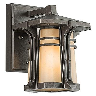 Kichler Lighting North Creek 8-1/2-Inch High Light Fluorescent Outdoor Wall Lantern