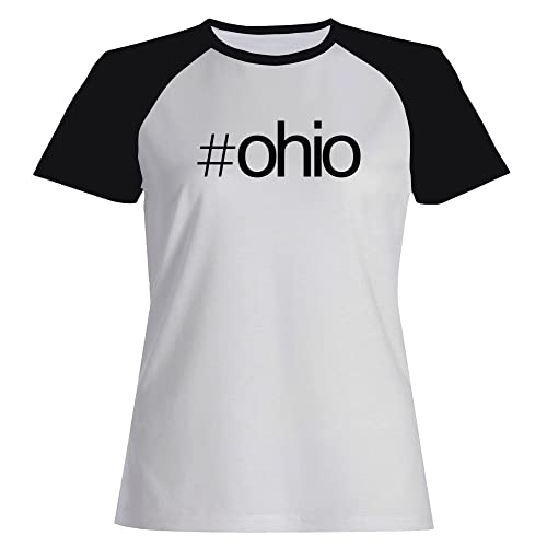 Idakoos Hashtag Ohio - Stati Uniti - Maglietta Raglan Donna